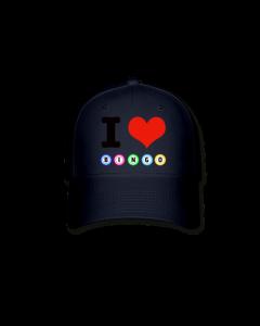 I Love Bingo Hat- Dark Navy Blue