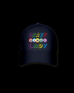 Crazy Bingo Lady Bingo Hat- Dark Navy Blue