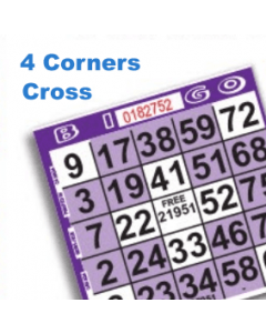 1 on Purple Four Corners/Small Cross Pattern Paper- Pack of 500
