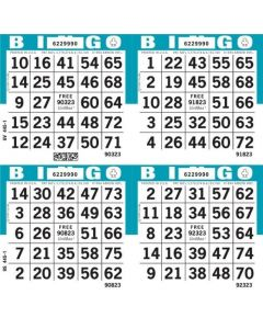 4 on Bingo Paper Cards- Pack of 750 Sheets
