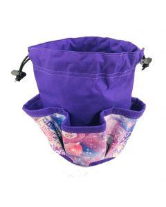 5 Pocket Cosmic Bingo Purple Drawstring Bag