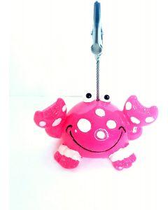 Admission Ticket Holder- Happy Pink Crab