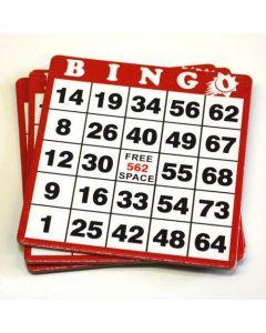 Hard Plastic Coated Bingo Cards- Pack of 100