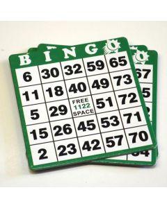 Hard Plastic Coated Bingo Cards- Pack of 50