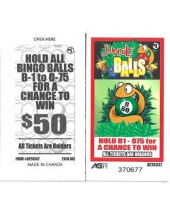 Bingo Sealed Event Tickets- Jungle Balls- Pack of 75 Tickets