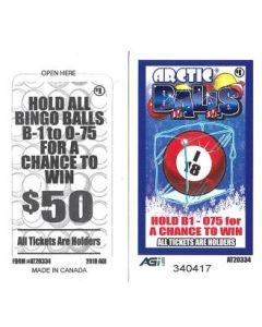Bingo Sealed Event Tickets- Arctic Balls- Pack of 75 Tickets