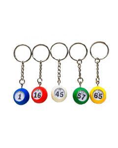 Keychains- Mini Bingo Balls- Set of 5