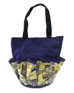 10 Pocket Zipper Bingo Riches Purple Bag