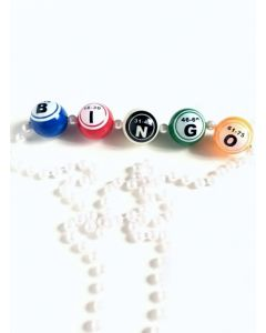 Bingo Ball Bead Necklace