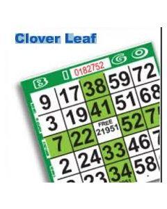 1 on Green Clover Leaf Pattern- Pack of 500
