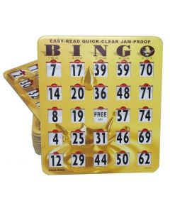 Easy Read Quick Clear Jam Proof Cards- Gold Rush- Pack of 100