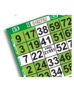 1 on Green Plus Pattern Bingo Paper Sheets- Pack of 500