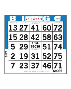1 on Bingo Paper Sheets- 500 Sheets Per Pack