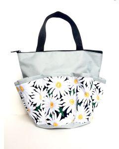 10 Pocket Daisies White Zipper Bingo Bag