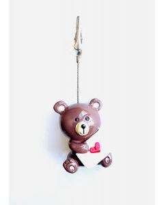 Admission Ticket Holder- Cute Bear Holding a Heart