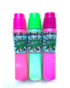 Bingo Delight Fluorescent 60ML Daubers- Pack of 3