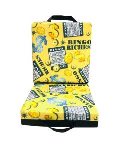 Bingo Riches Black Double Cushion