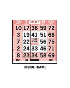 1 on Pink Inside Frame Pattern Paper Cards- Pack of 500