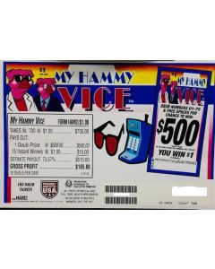 Bingo Sealed Event Tickets- My Hammy Vice- Pack of 700