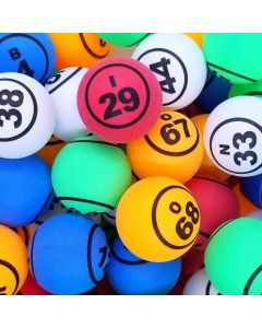 Economy Multi Color 1.5 Inch Double Numbered Bingo Ball Set