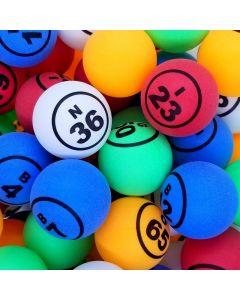 Economy Multi Color 1.5 Inch Single Numbered Bingo Ball Set