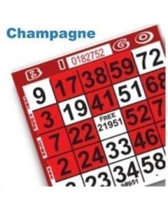 1 on Red Champagne Glass Pattern Paper Cards- Pack of 500