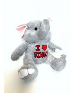 Peanut the Elephant- I Love Bingo Plush Animal