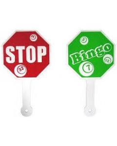 Red and Green Bingo Stop Sign Paddle
